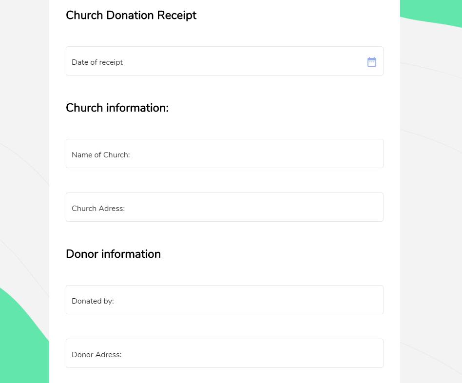 Church Donation Receipt Mightyforms